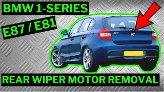 BMW 1-SERIES E87 / E81 - Rear Wiper Arm / Motor Removal