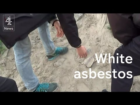 Calais jungle: white asbestos found across the camp