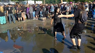 Beautiful Erotic Dance In The Puddle - Masters Of Rock 2017