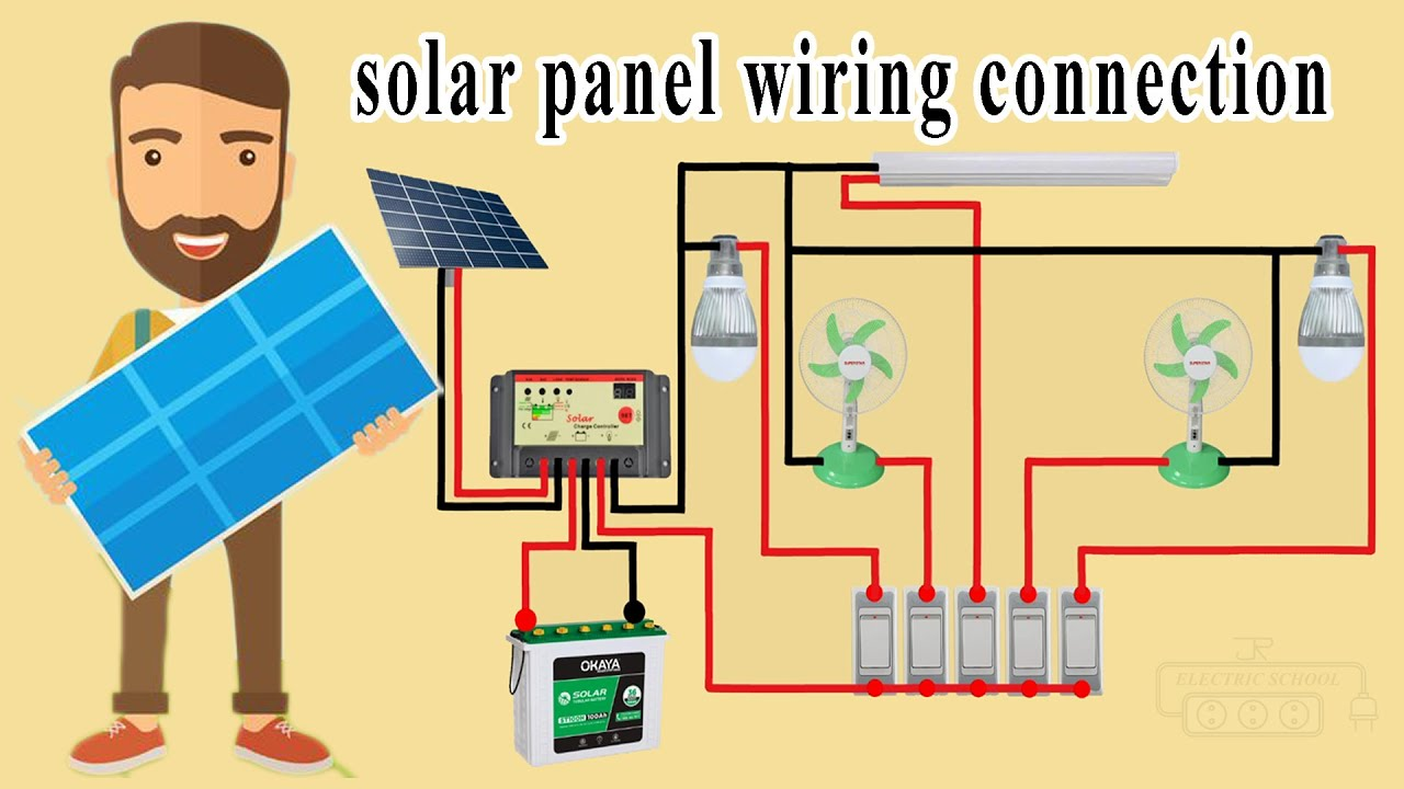 solar panel wiring connection in house wiring diagram - YouTube | Hybrid Solar Power Wiring Diagram |  | YouTube