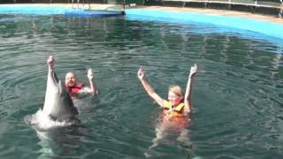 Swimming with Flip the dolphin - Marmaris, Turkey, Oct 2012.