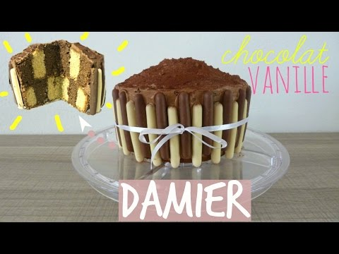 gâteau-damier-chocolat/vanille-facile---léa-cooking