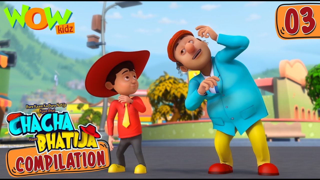 Chacha Bhatija | Compilation 03 | Funny Animated Stories | Wow Kidz