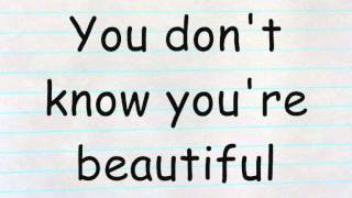 Repeat youtube video One Direction - What Makes You Beautiful Lyrics