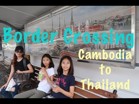Crossing Border From Cambodia To Thailand