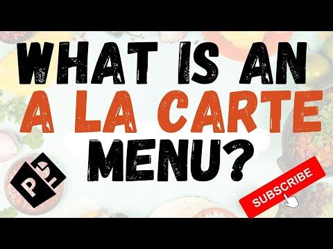 An a la carte menu is essential to chefs What does a la carte mean?