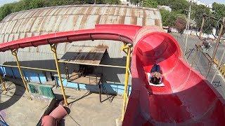 Red Tube Water Slide at Splash The Sun City