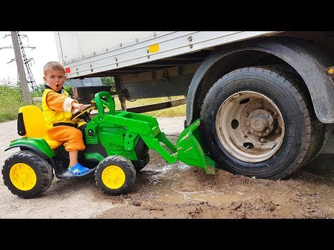 Funny stories about Truck and Tractor - compilation