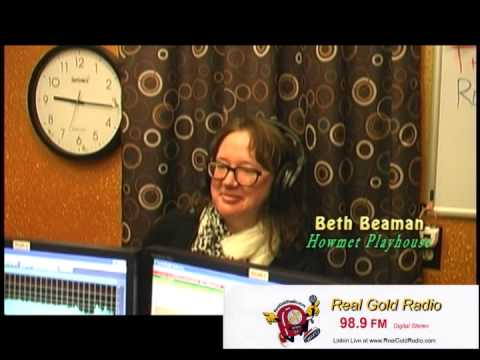 Beth Beaman   Howmet Playhouse   interview with Jim Cox on Real Gold Radio