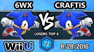 shine 2016 smash 4 craftis sonic vs circa   6wx sonic ssb4 losers top 8
