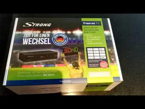 strong srt 8541 dvb t2 receiver youtube. Black Bedroom Furniture Sets. Home Design Ideas