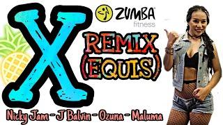 ZUMBA FITNESS | X REMIX (EQUIS) - NICKY JAM, J BALVIN, OZUNA, MALUMA | MICHELLE VO | Dance Workout