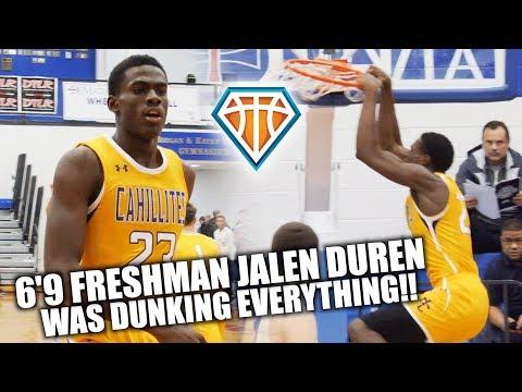 6'9 FRESHMAN Jalen Duren was DUNKING EVERYTHING!! | Elite Prospect form Philly