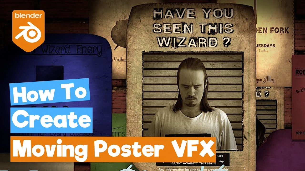 "Blender Tutorial: Harry Potter ""Moving Photo/Poster ..."