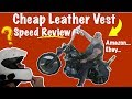 Cheap Leather Motorcycle Vest Review! Amazon Biker Clothing Guide