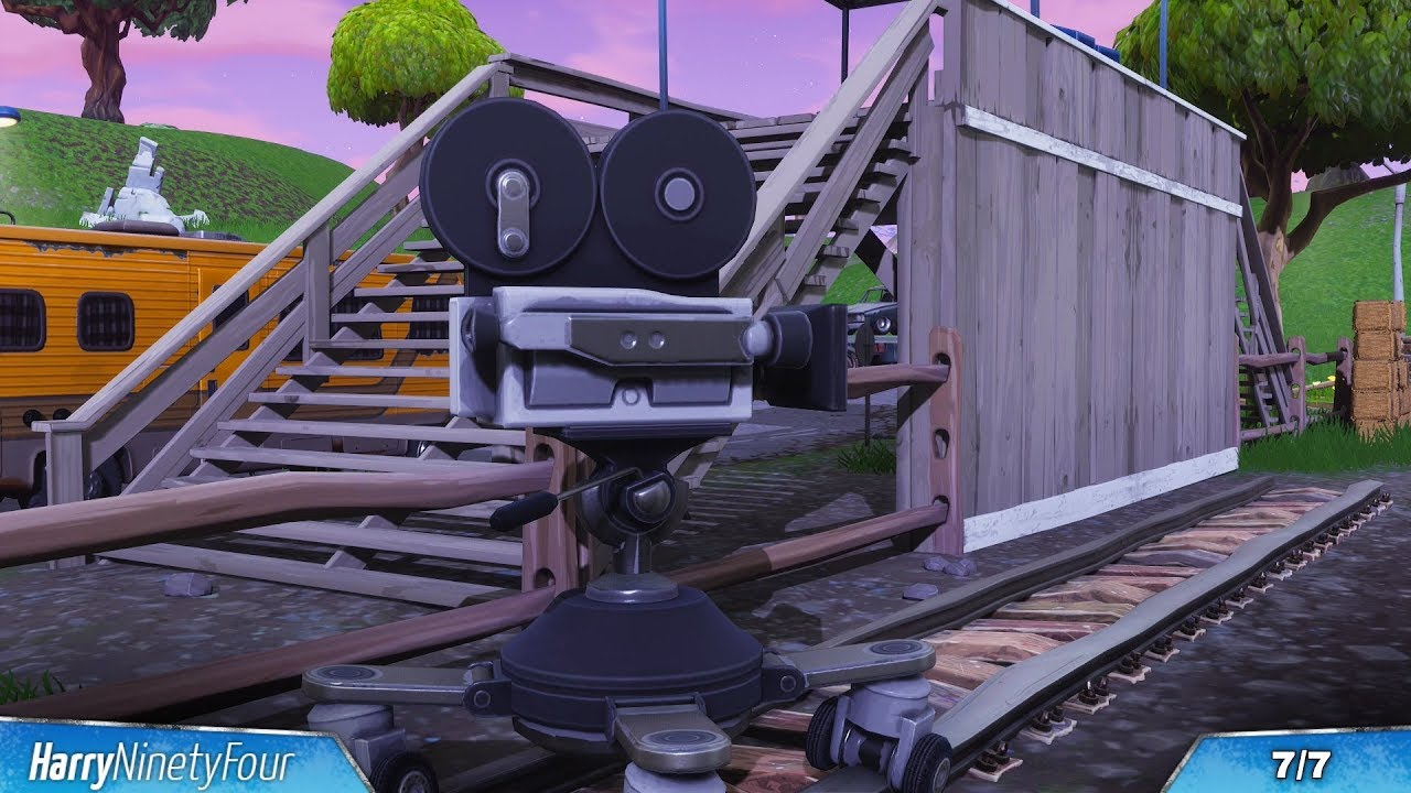 fortnite battle royale all film cameras locations guide season 4 challenge - camera spots on fortnite