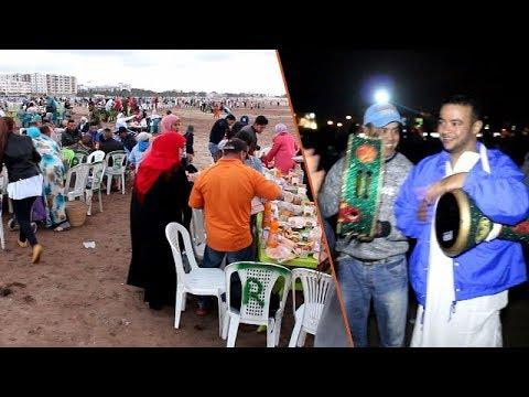 أجواء جميلة ورائعة في افطار جماعي  بشاطئ المركز بالمحمدية..  من تنظيم نهضة زناتة