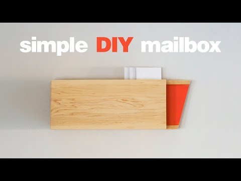 DIY Mailbox  - Simple Woodworking Projects