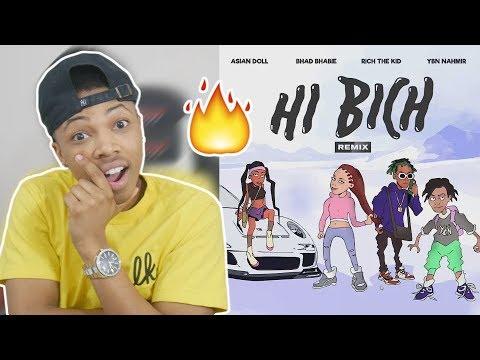 BHAD BHABIE Hi Bich REMIX ft YBN Nahmir, Rich the Kid, Asian Doll  Danielle Bregoli Reaction