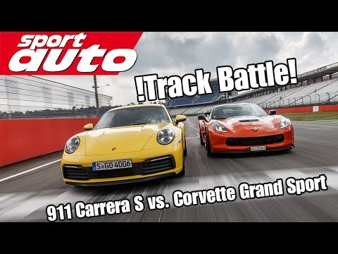 Track Battle: Porsche 911 (992) Carrera S vs.  Corvette Grand Sport | sport auto