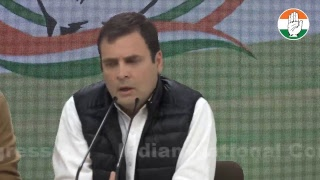 Congress President Rahul Gandhi addresses media on Rafale Scam