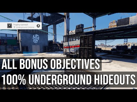 100% All Underground Hideouts - All Bonus Objectives & Underground Caches - Spider-Man Miles Morales