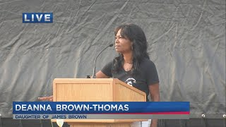 Chadwick Boseman remembrance: Deanna Brown-Thomas speaks at remembrance event