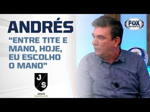 TITE OU MANO MENEZES? Andrés Sanchez responde quem levaria para o Corinthians hoje
