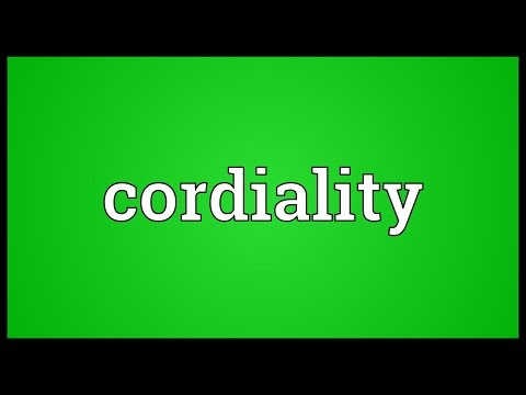 Header of cordiality