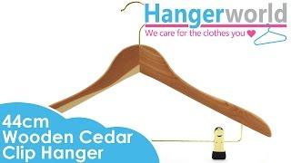 Hangerworld - Wooden Cedar Clip Hanger - 44cm