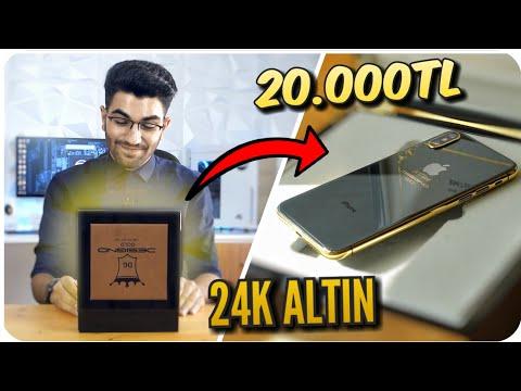 24K ALTIN KAPLAMA İPHONE X KUTU AÇILIMI - Türkiye'de Tek - (20.000TL)