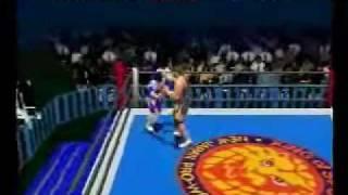 Shin Nippon Pro Wrestling Toukon Retsuden Gameplay video