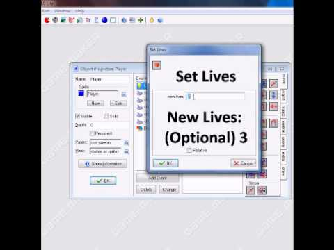 how to make lives in game maker