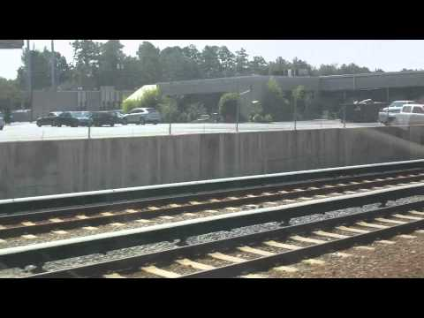 MARTA train ride from North Springs to Five Points