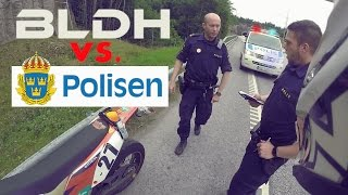 Supermoto vs. the Swedish Police | 1 km Wheelie BUSTED | BLDH