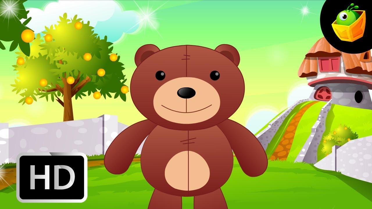 teddy bear turn around english nursery rhymes cartoon animated