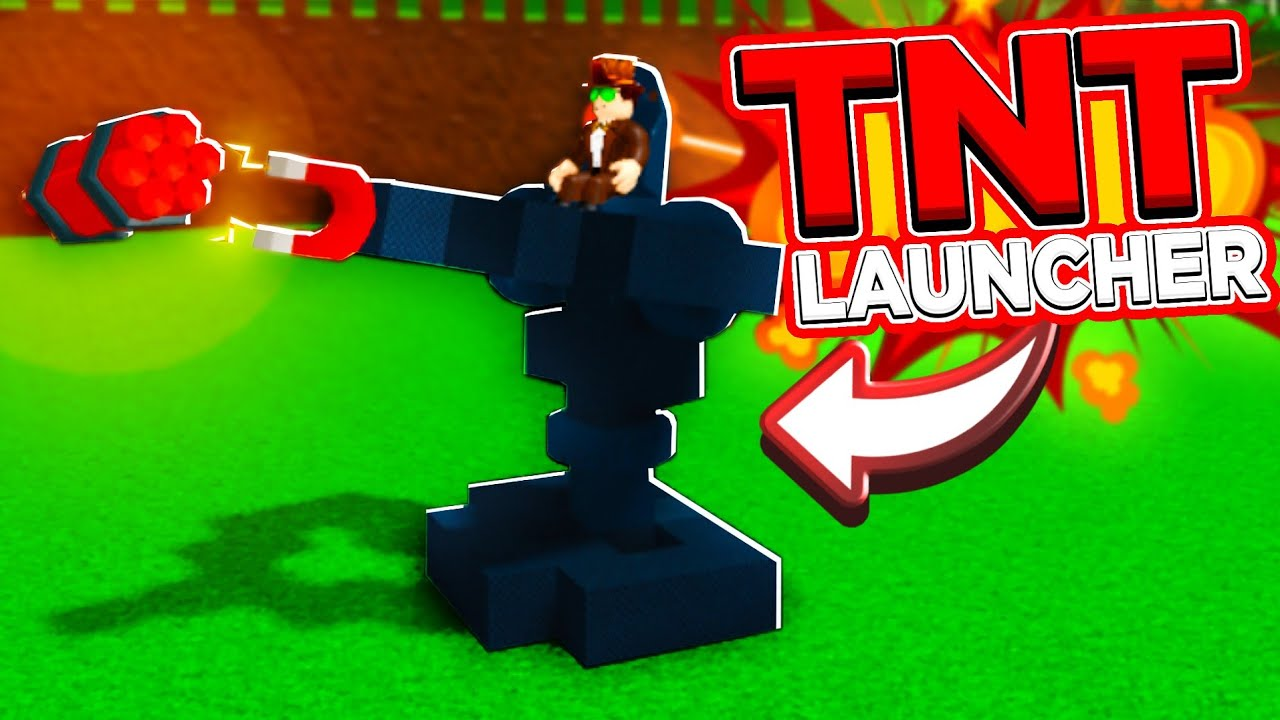 How To Make A Tnt Launcher In Roblox Build A Boat For Treasure