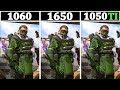 GTX 1060 vs 1650 vs 1050TI | Tested 18 Games |