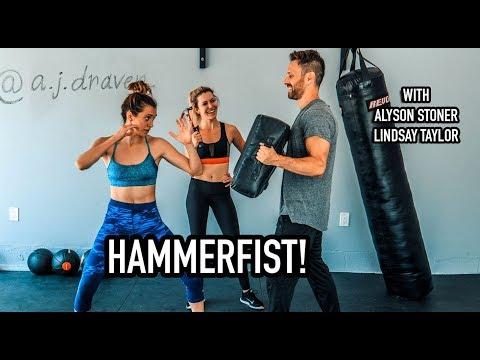 Krav Maga Class for beginners! - Hammerfist Tutorial - Learn in 5 minutes! W/ Alyson Stoner thumbnail
