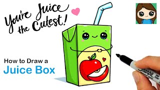 How to Draw a Juice Box  Cute Pun Art #12