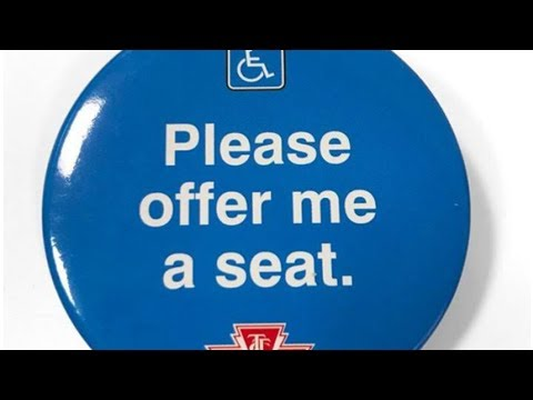 'Please offer me a seat'