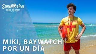 MIKI, socorrista por un día en las playas de Tel Aviv   Eurovisión 2019