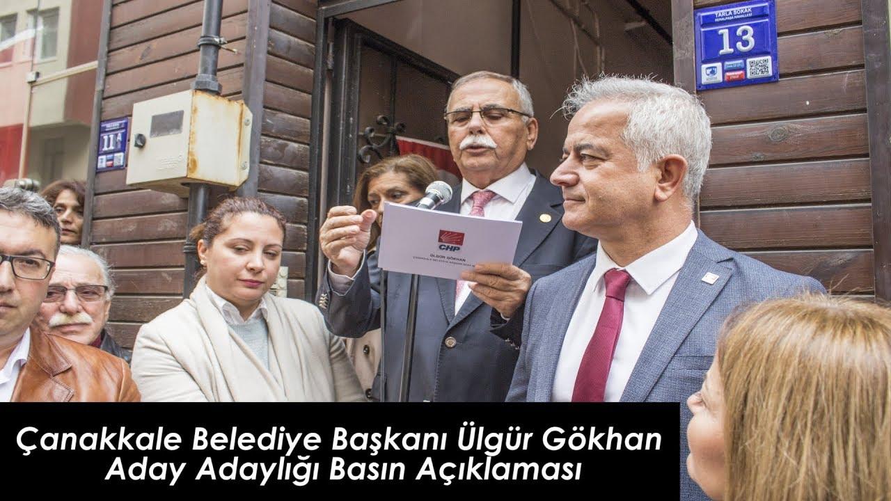 Çanakkale Belediye Başkanı Ülgür Gökhan Aday Adaylığı Basın Açıklaması