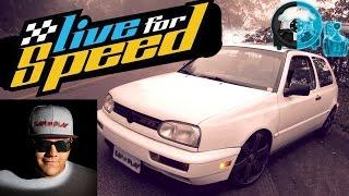 🔴► Live For Speed - Golf GTI MK3 Turbo do SanInPlay - Racha com o Getaway Driver - G27