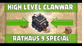 HIGH LEVEL CLANWAR - RH 9 SPECIAL - 3 STERNE STRATEGIEN - CLASH OF CLANS [Deutsch/German]