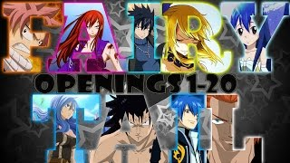 Fairy Tail Openings 1-20 Audio + Video HD