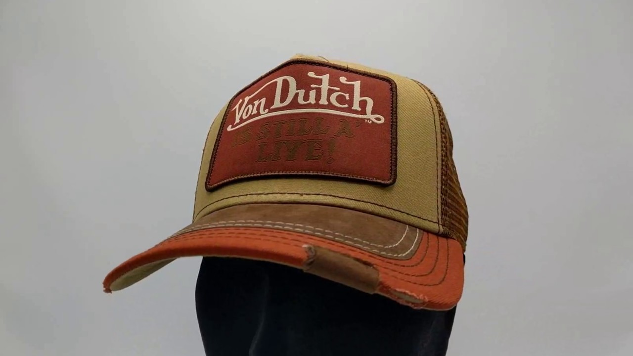 06b9db3acad861 Von Dutch Still Alive Square cap - brown - €39,95 - GRATIS Verzending -  CapKopen.nl