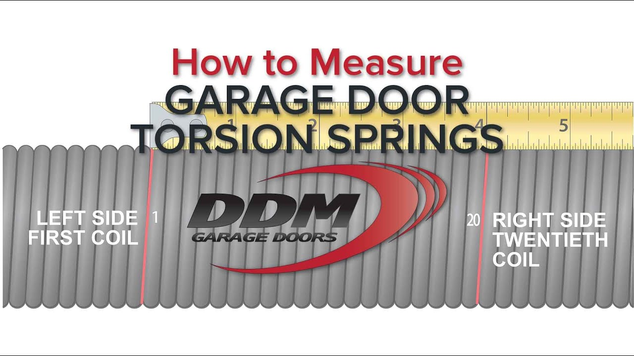 How To Measure Garage Door Torsion Springs Youtube