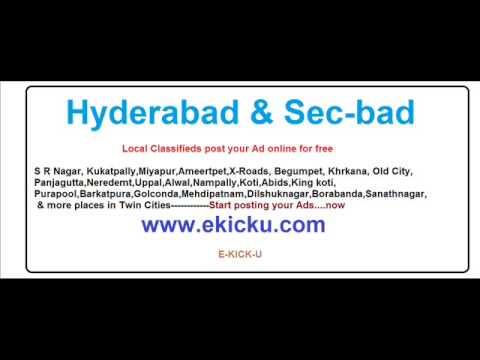 Hyderabad Free Classifieds - Www.ekicku.com