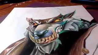 FORTNITE dire wolf skin [SPEED DRAWING]by XED